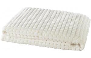 Flanelldecke Checks weiß 150 x 200