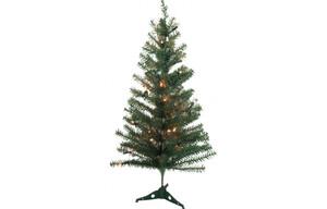 Weihnachtsbaum beleuchtet grün