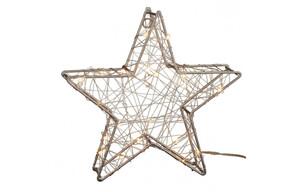 LED-Drahtstern ca. 25cm warmweiß