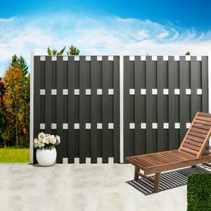 Pfosten für WPC-Zaun 'Alu' 7 x 7 x 240 cm silbern