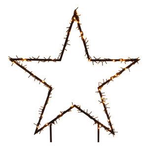 Gartenstecker Stern beleuchtet