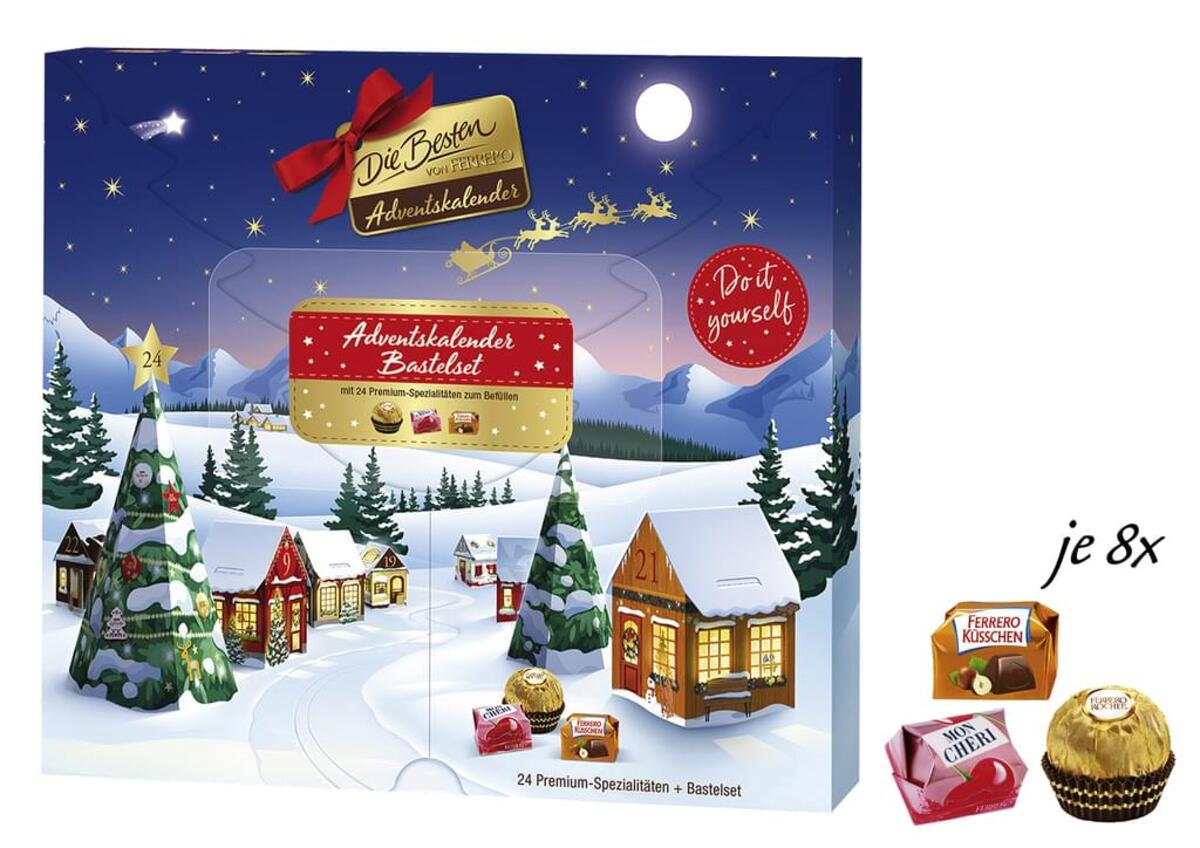 Bild 2 von Ferrero die Besten Adventskalender 255g Bastelset Weihnachtsdorf