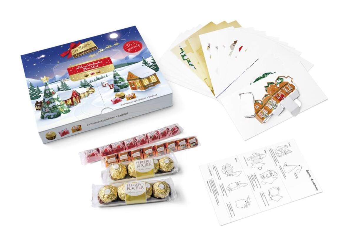 Bild 4 von Ferrero die Besten Adventskalender 255g Bastelset Weihnachtsdorf