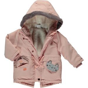 Baby Mädchen Winterjacke mit Kapuze