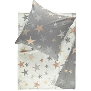Feinbiber Bettwäsche mit Sternen 135x200cm