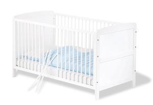 Pinolino Kinderbett Viktoria; Teilmassiv: Kiefer, weiß lackiert; 144 cmx76 cmx83 cm, 111422