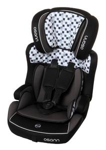 Osann Kindersitz Lupo Isofix Cube Black - 9 bis 36 kg (8 Monaten bis 12 Jahren) - Befestigungsart: Isofix und 3-Punkt-Gurt - schwarz , grau , weiß