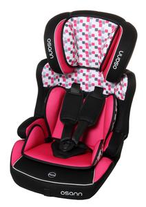 Osann Kindersitz Lupo Isofix Cube Pink - 9 bis 36 kg (8 Monaten bis 12 Jahren) - Befestigungsart: Isofix und 3-Punkt-Gurt - schwarz , pink , weiß