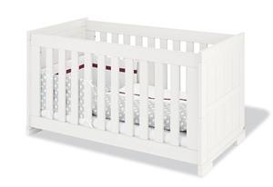 Pinolino Kinderbett Skrollan; Beschichtet: MDF, weiß mit Holzmaserung; 146 cmx79 cmx85 cm, 110041