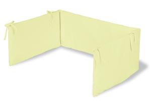 Pinolino Nestchen für Kinderbetten, Frottee, lemon; 166 cmx30 cmx3 cm, 650062-3