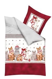 kaeppel Bettwäsche Christmas Cats 135x200 cm