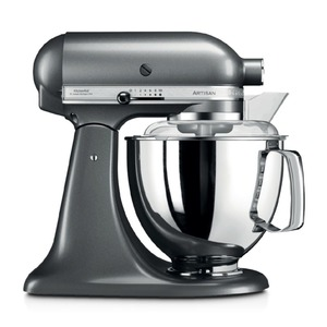 KitchenAid Küchenmaschine Artisan 4,8l Silber 5tlg.