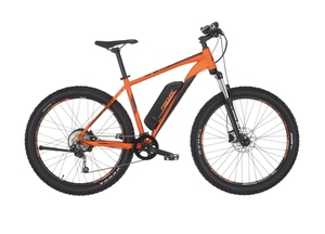 Fischer Mountain-E-Bike EM 1723, 27,5 Zoll, signalorange matt