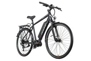 Alu E-Trekking Bike Herren 28'' Palermo schwarz Adore 250Watt Li-Ion 36 V/14Ah 9Gänge Adore 116E