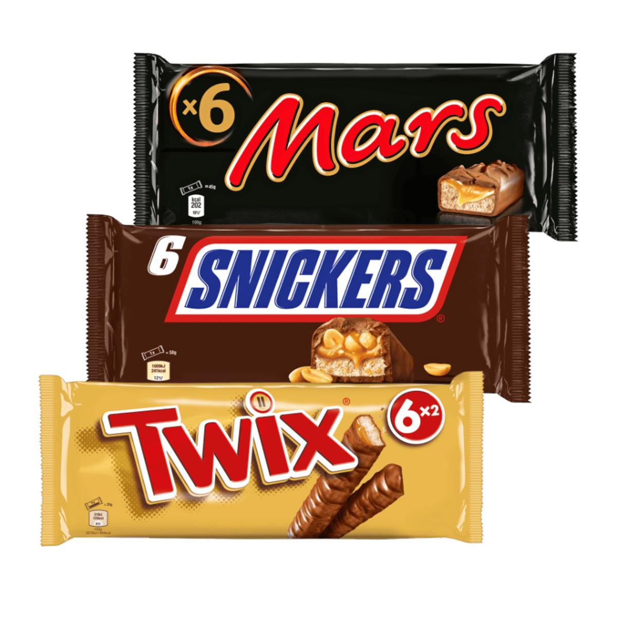 Bild 1 von Mars / Twix / Snickers