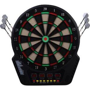 HOMCOM Elektronische Dartscheibe für bis zu 16 Spieler schwarz 44 x 3,2 x 50 cm (BxTxH)   Dartboard Dartscheibe Dartpfeile Spiel Board