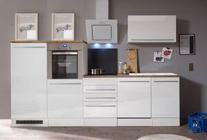 Respekta Premium Küchenzeile mit Mineralite-Einbauspülbecken 290 cm, weiß
