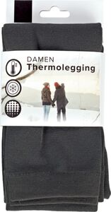 Damen Thermolegging - anthrazit, Gr. L/XL (42/44)