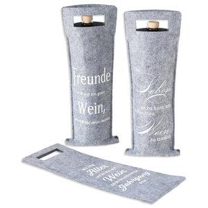 Flaschentasche Wein - grau - 41 cm hoch