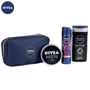 NIVEA Men Geschenkset Deins. inkl. Kulturtasche 4-teilig