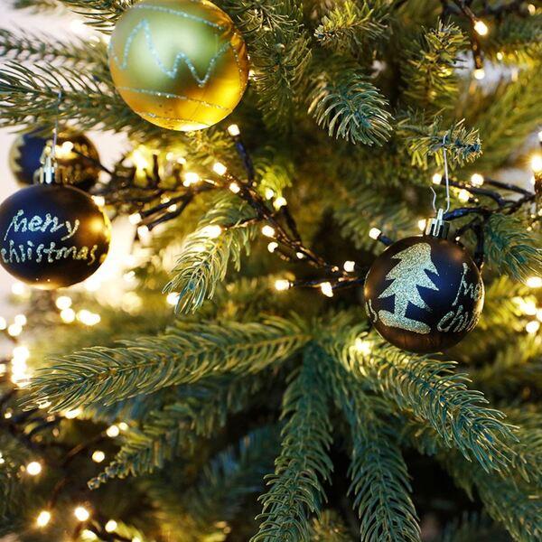 Weihnachtsbaumkugeln Schwarz