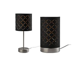 LIVARNO LUX® Tischleuchte, warmweißes Licht, Lampenschirm mit goldfarbener Innenseite