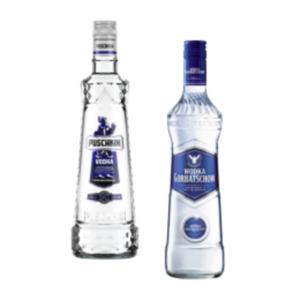 Puschkin Vodka oder Wodka Gorbatschow