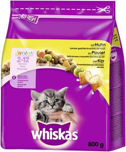 Whiskas Trockenfutter Junior (2-12 Monate) mit Huhn 0,8 kg