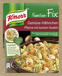 Knorr Familien-Fix Gemüse-Hähnchen Pfanne mit bunten Nudeln 33 g