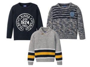 LUPILU® Kleinkinder Jungen Pullover, Strick, mit Baumwolle, warm und weich