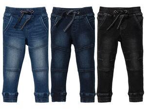 LUPILU® Kleinkinder Jungen Thermohose, Jeans-Optik, bequem wie Sweathose, mit Baumwolle
