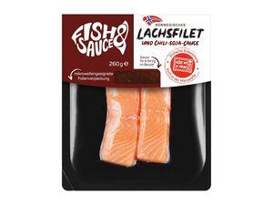 Norwegisches Lachsfilet mit Sauce