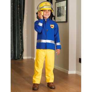 Feuerwehrmann-Kostüm für Kinder, 3-teilig
