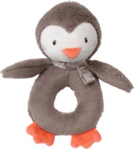 PUSBLU Greifring Pinguin mit Rassel, braun