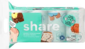 share Toilettenpapier (8x200 Blatt) 3lg. Rec.