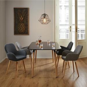 Esstisch in schwarz ca. 160x90 cm 'Anuk'