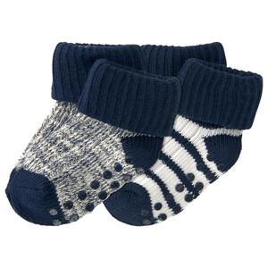 2 Paar Baby Socken mit ABS-Noppen