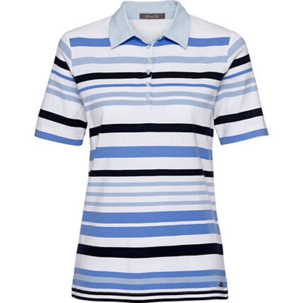 Adagio Damen Polo-Shirt, gestreift