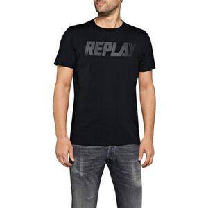 Replay Herren T-Shirt, Rundhals, schwarz, L
