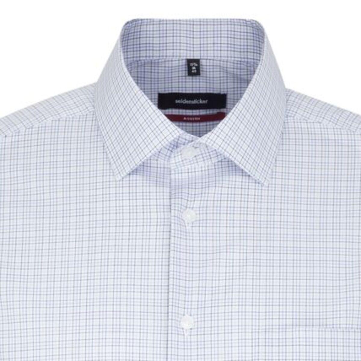 Bild 2 von Seidensticker Business Hemd Modern Kurzarm Kent-Kragen Karo, blau