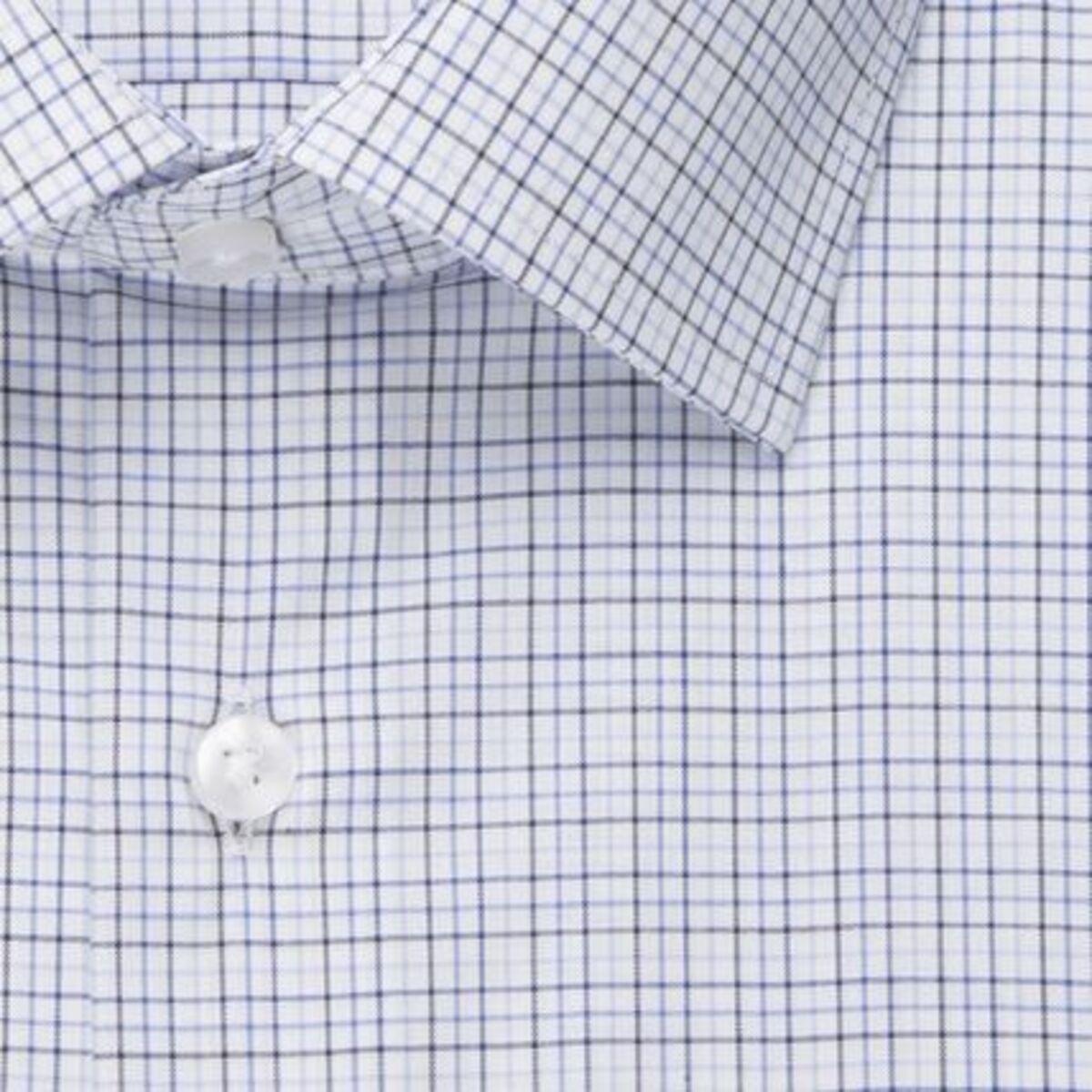 Bild 4 von Seidensticker Business Hemd Modern Kurzarm Kent-Kragen Karo, blau