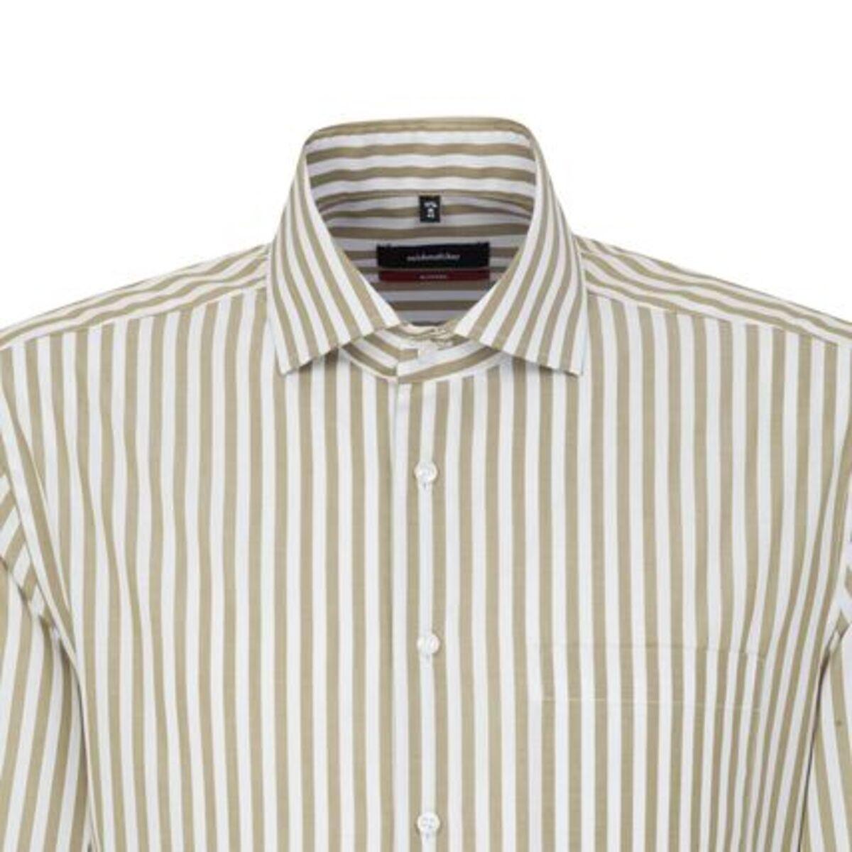 Bild 2 von Seidensticker Business Hemd Modern Langarm Kentkragen Streifen, Grün, grün, 39, 39