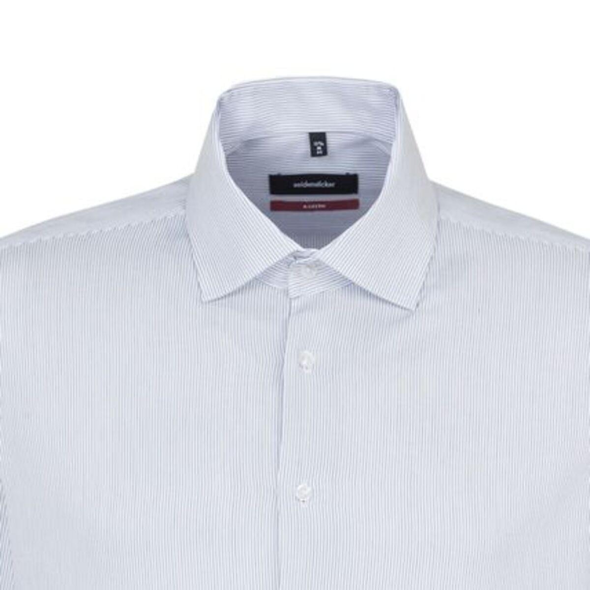Bild 2 von Seidensticker Business Hemd Modern Langarm Kentkragen Streifen, blau, 38, 38