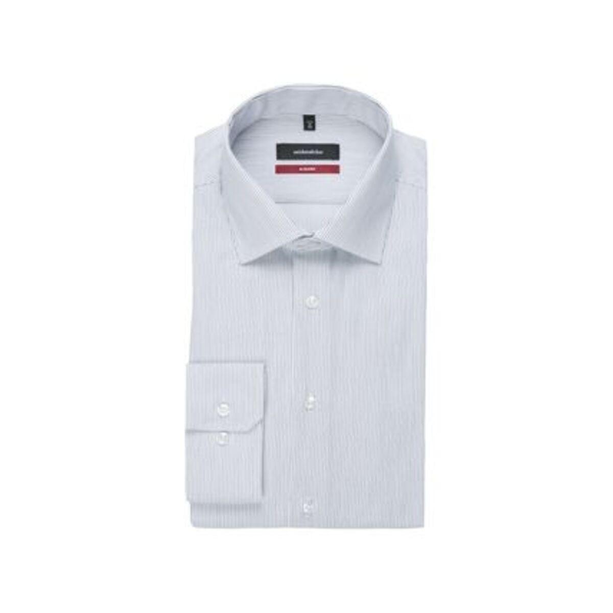 Bild 4 von Seidensticker Business Hemd Modern Langarm Kentkragen Streifen, blau, 38, 38