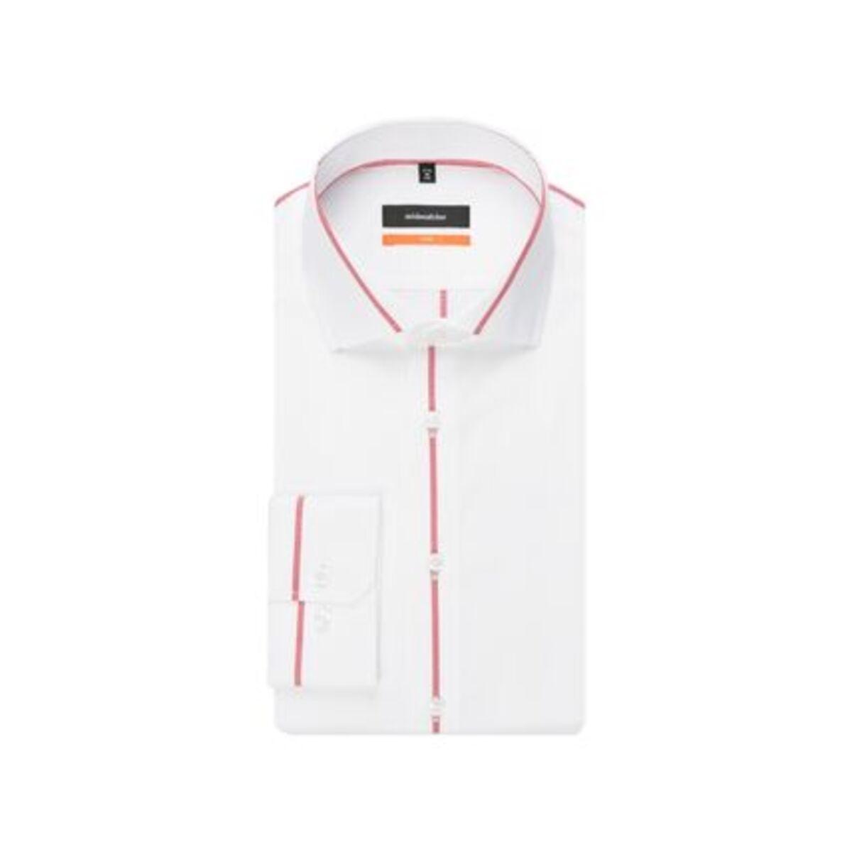 Bild 3 von Seidensticker Business Hemd Slim Langarm Kentkragen Streifen, Rot, rot, 43, 43