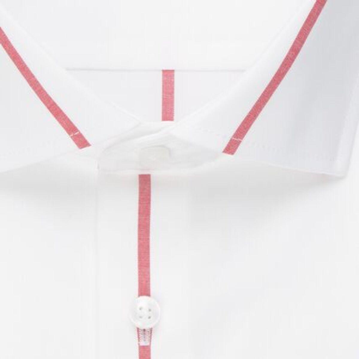 Bild 4 von Seidensticker Business Hemd Slim Langarm Kentkragen Streifen, Rot, rot, 43, 43
