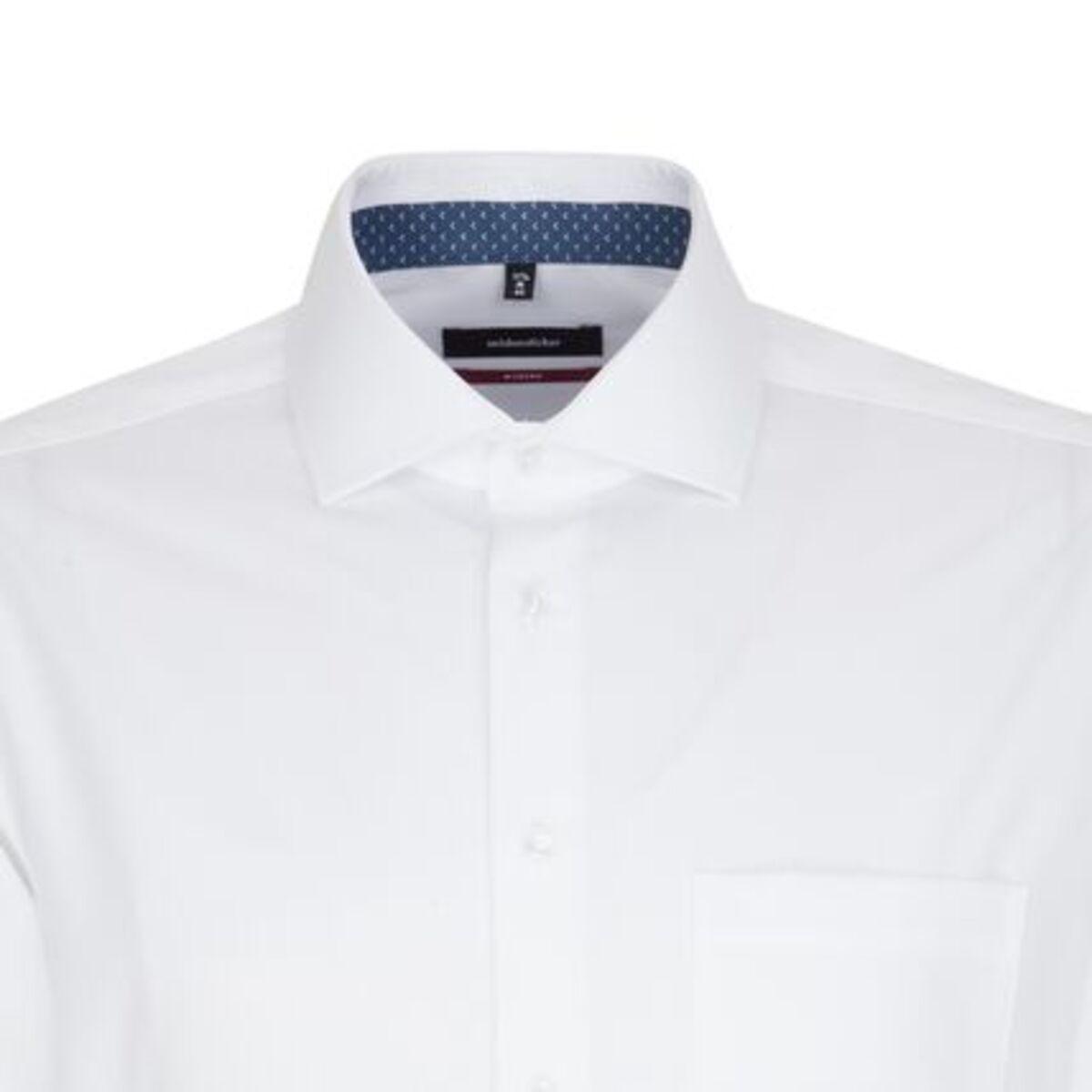 Bild 2 von Seidensticker Business Hemd Modern Langarm Kentkragen Streifen, Weiß, weiß, 46, 46