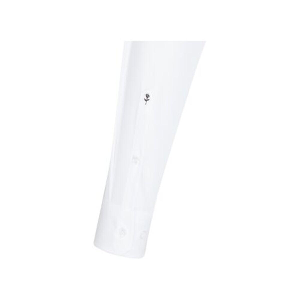 Bild 4 von Seidensticker Business Hemd Modern Langarm Kentkragen Streifen, Weiß, weiß, 46, 46