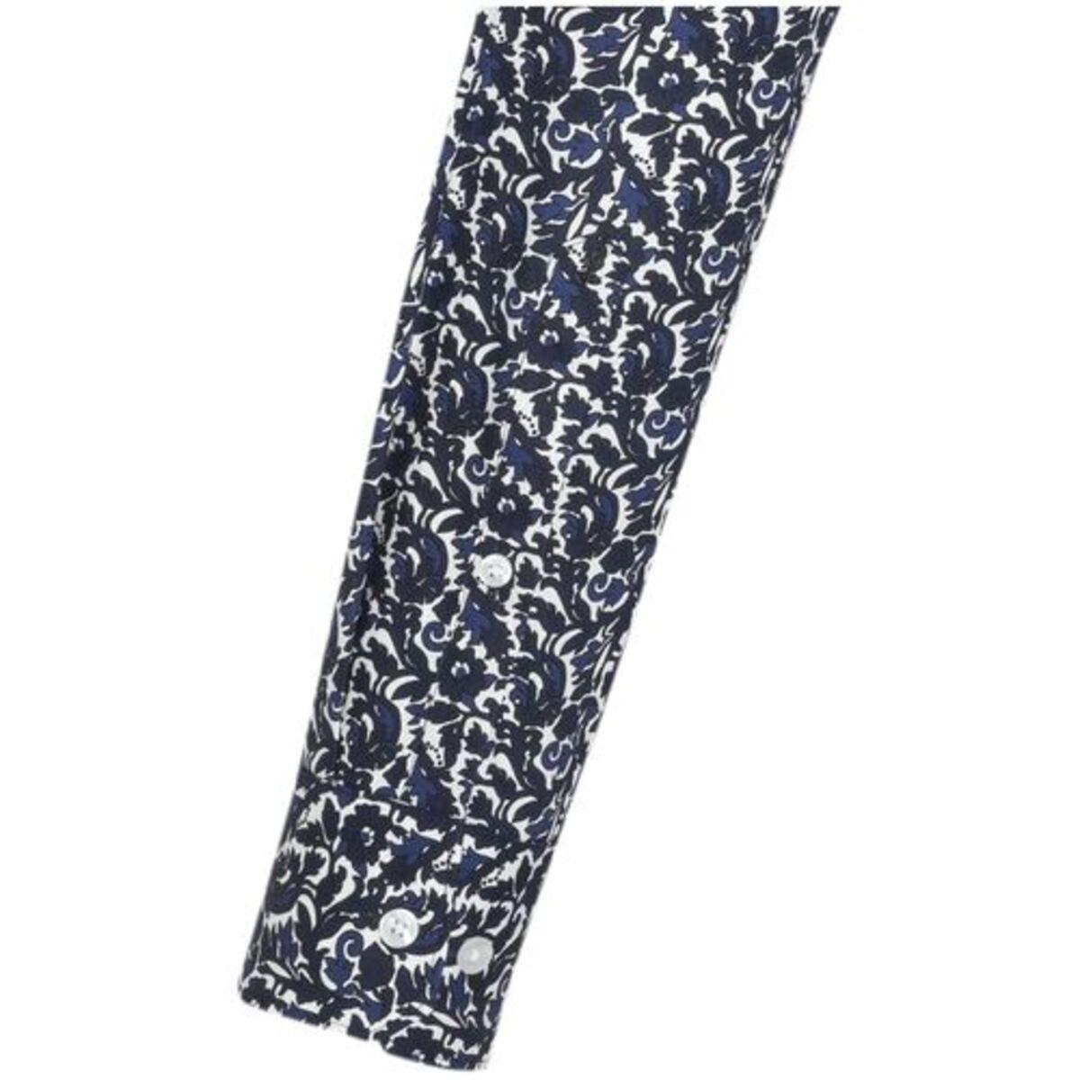 Bild 4 von Seidensticker Business Hemd Comfort Langarm Kentkragen Print, Dunkelblau, blau, 46, 46