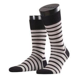 Falke Herren Socken Even Stripe, black, 43-46, creme, 43-46